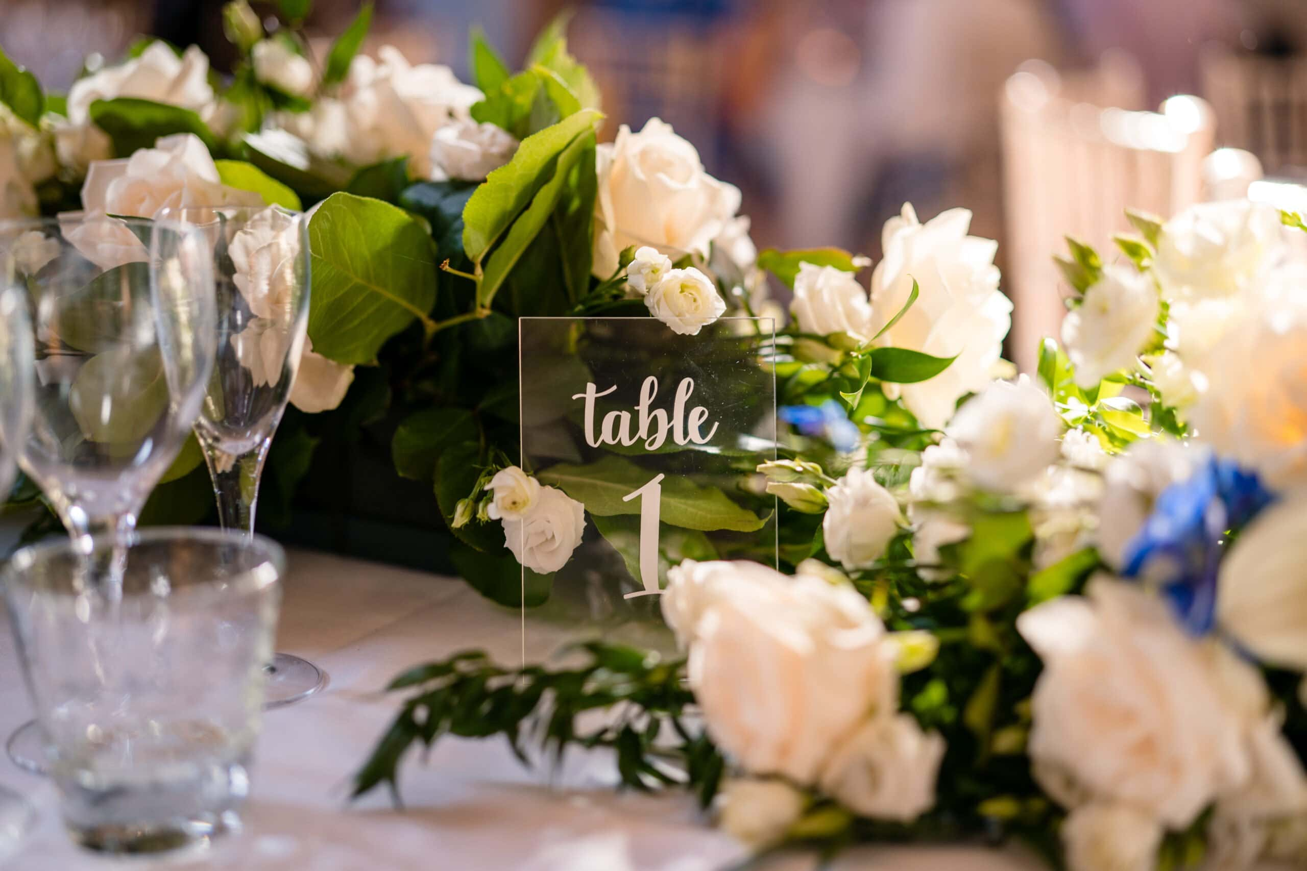 table setting at Langley Abbey wedding norfolk