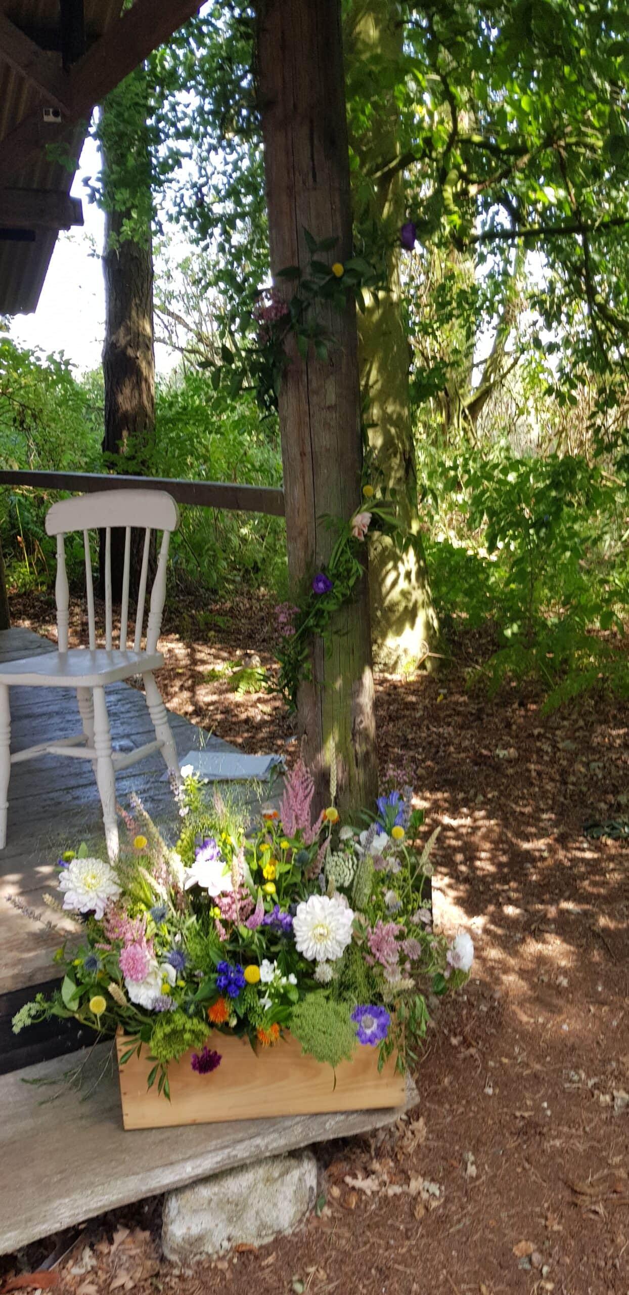 woodland wedding ceremony norfolk