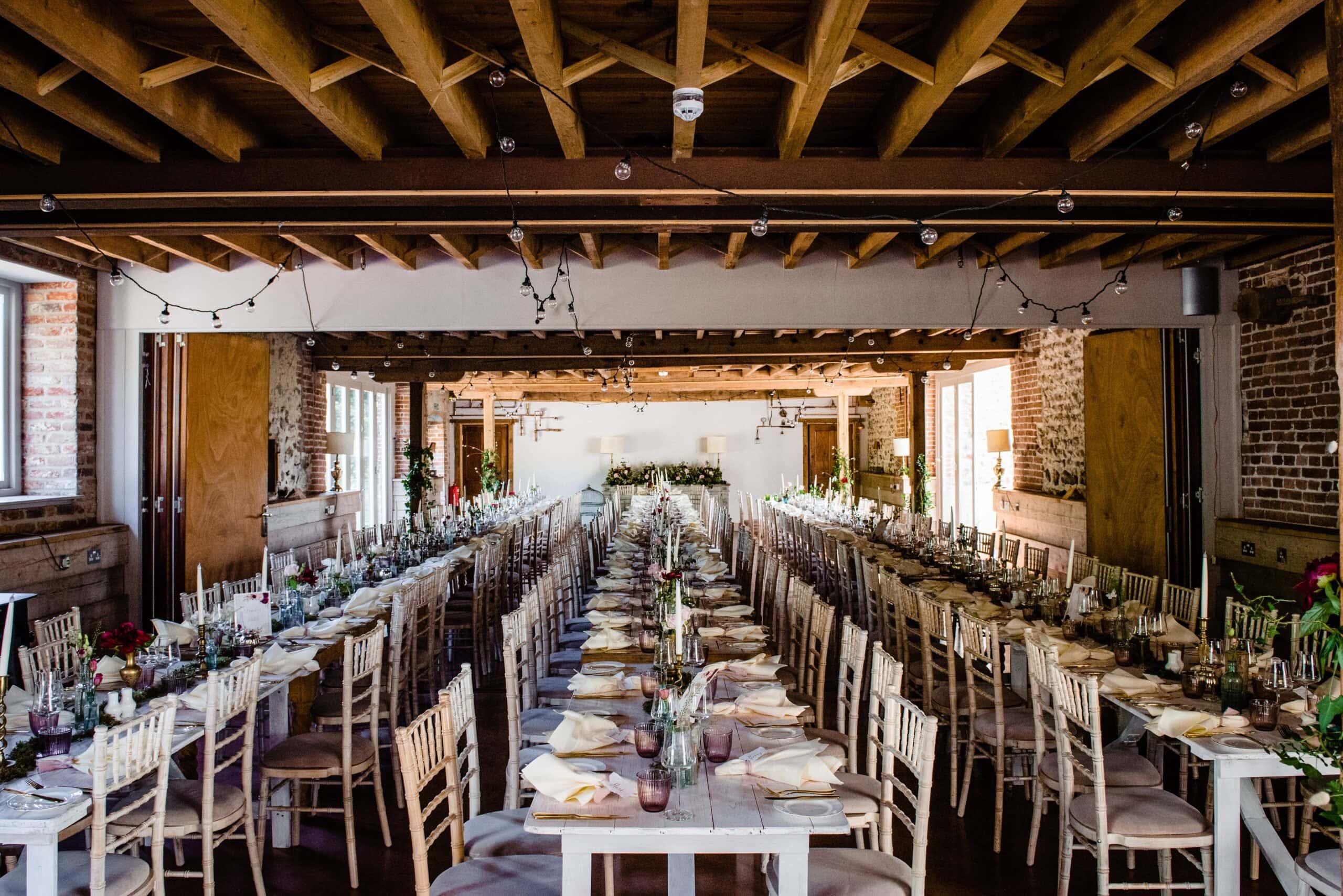 wedding breakfast at west lexham manor norfolk