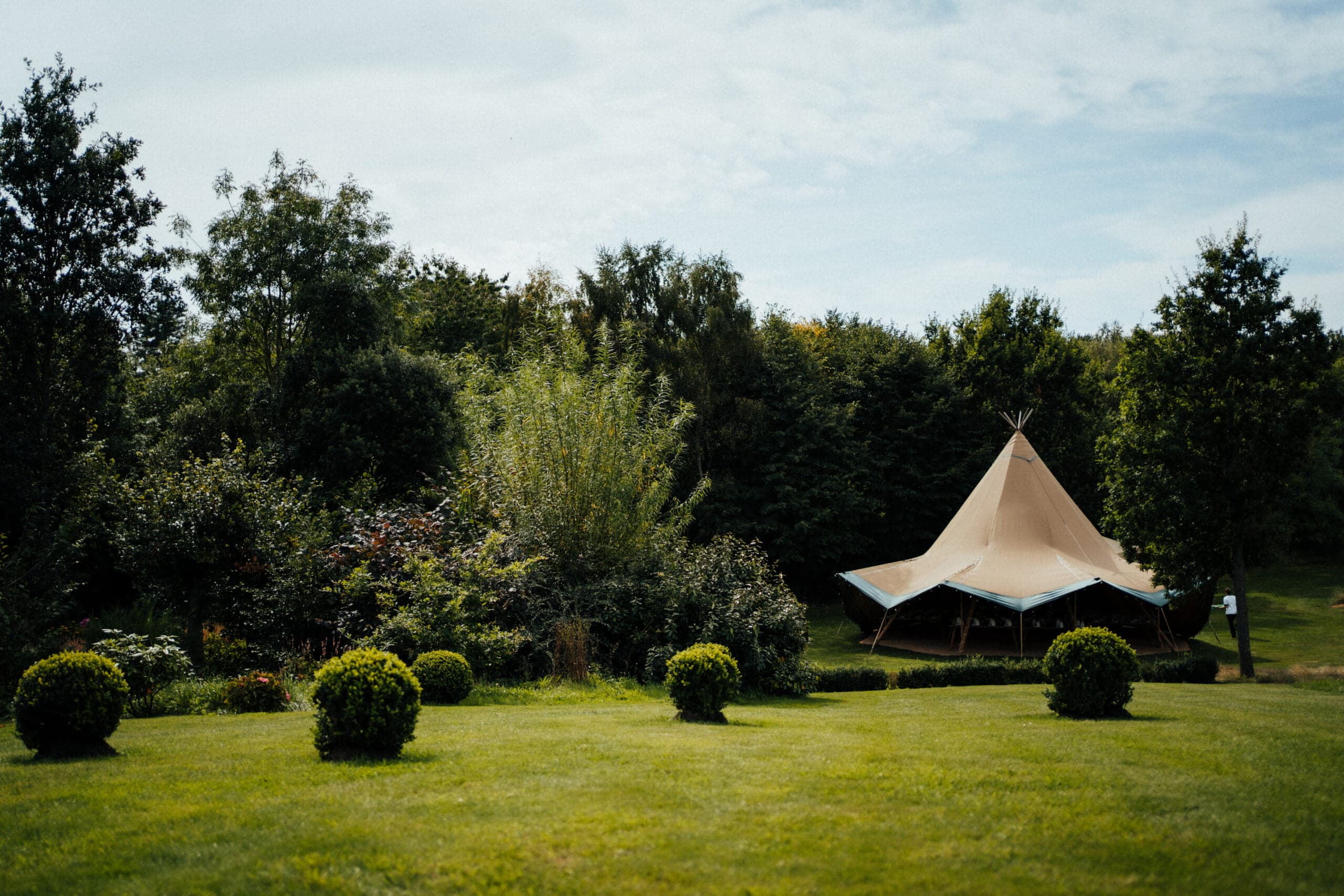 Wedding tipis in Norfolk at Chaucer Barn