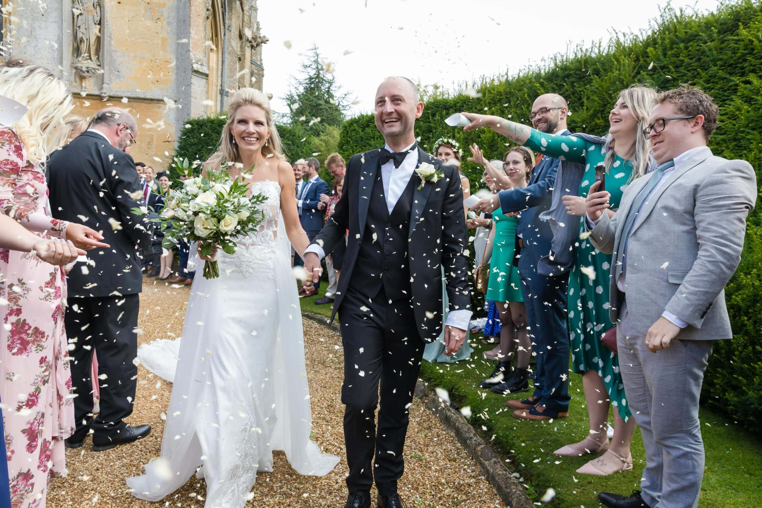 confetti shot by beller jones photography at sudeley castle