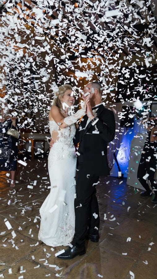 First dance as bride and groom at sudeley castle