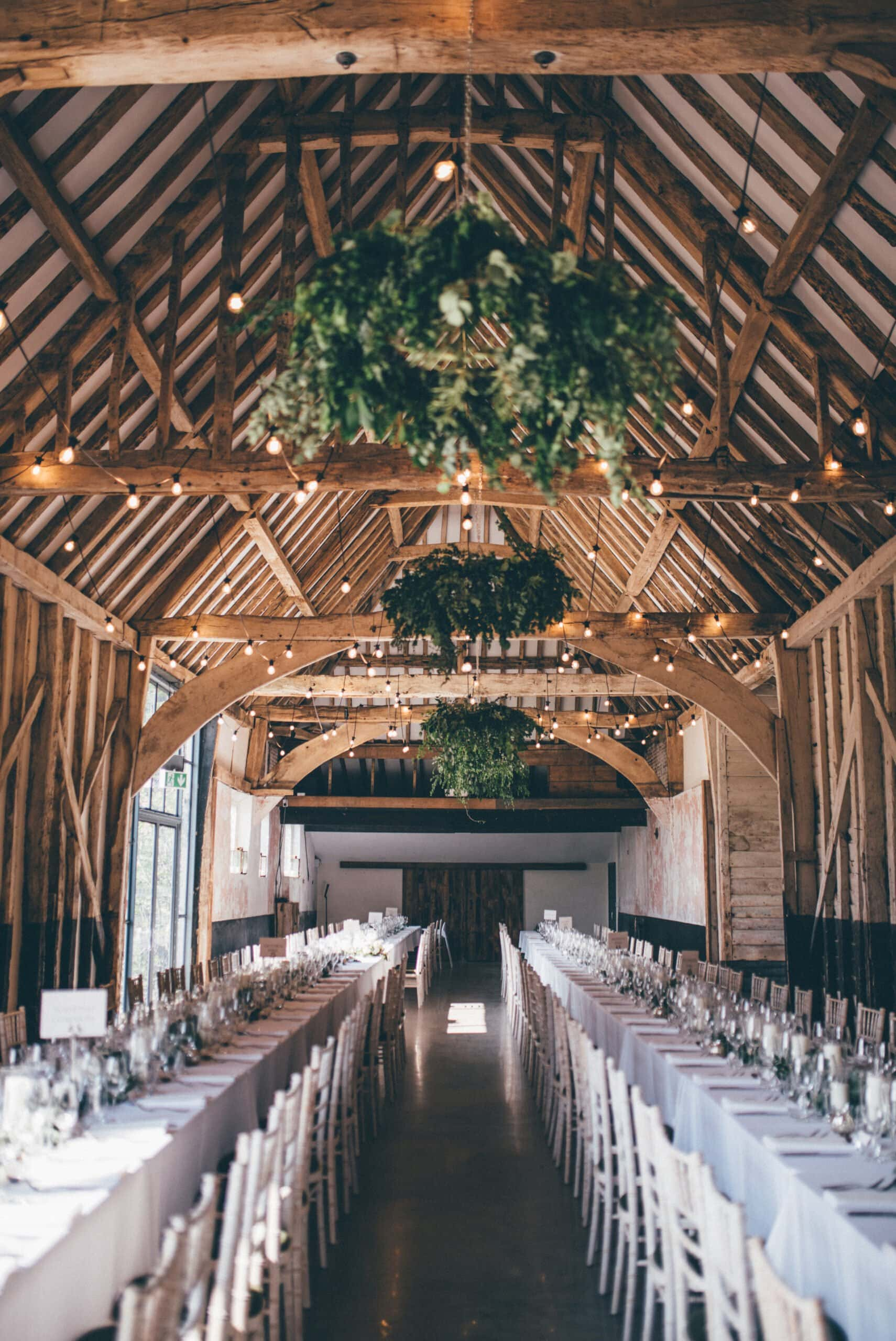 Henham Barns wedding with foliage and eucalyptus