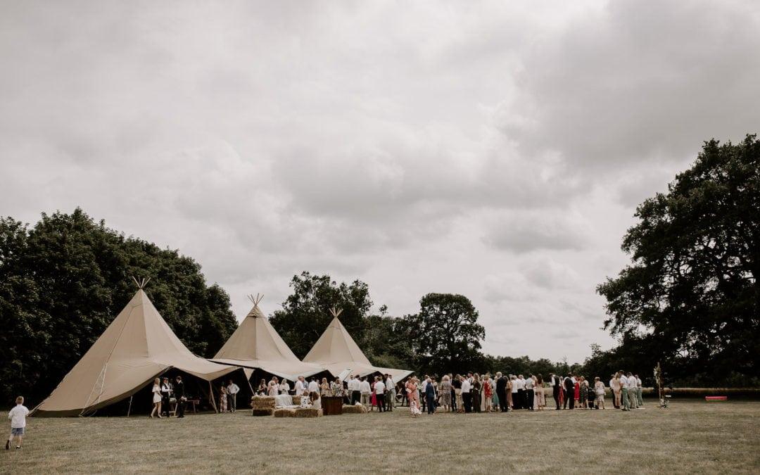Tipi Wedding – Real Wedding at Glevering Estate, Suffolk