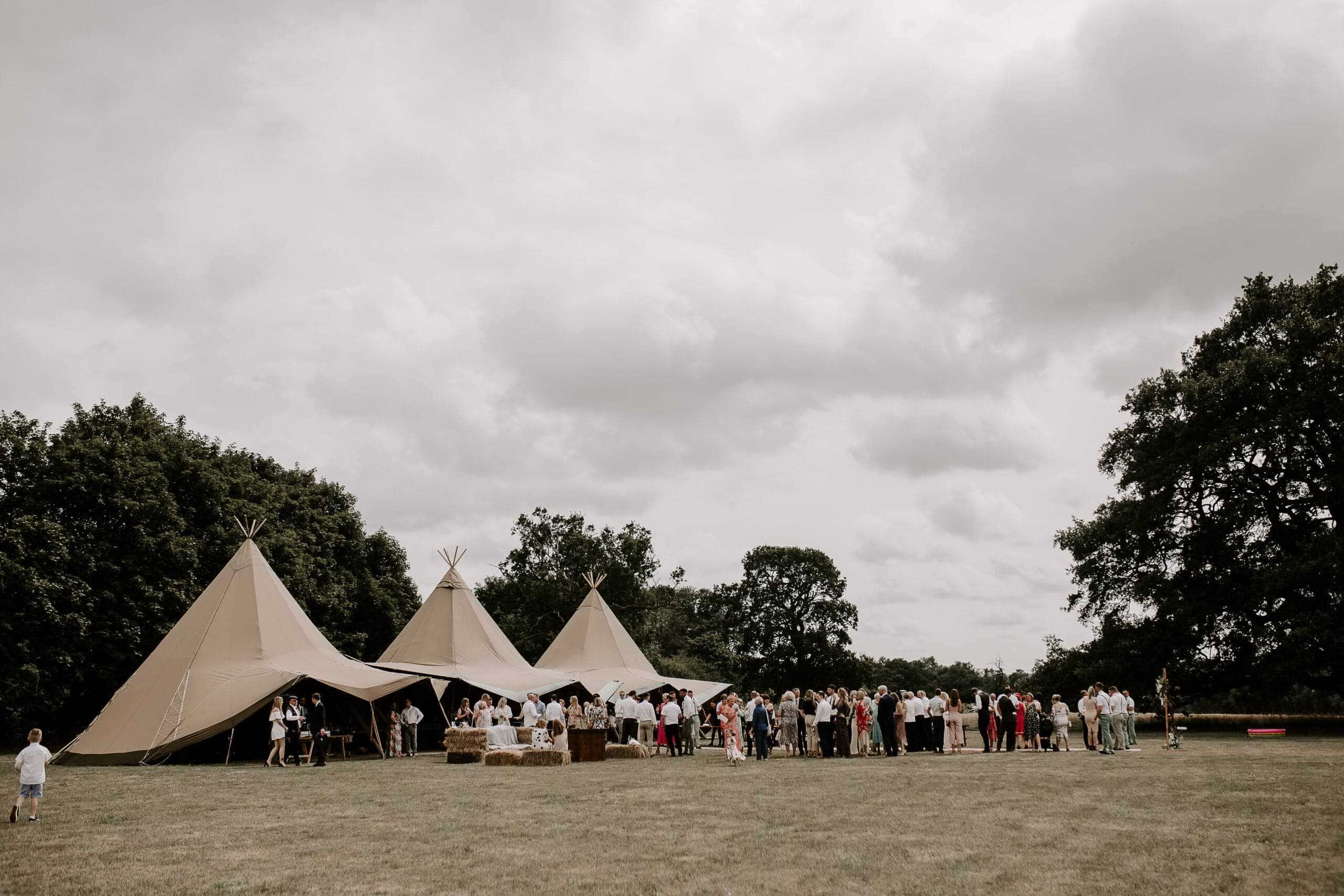 tipis at glevering estate wedding suffolk