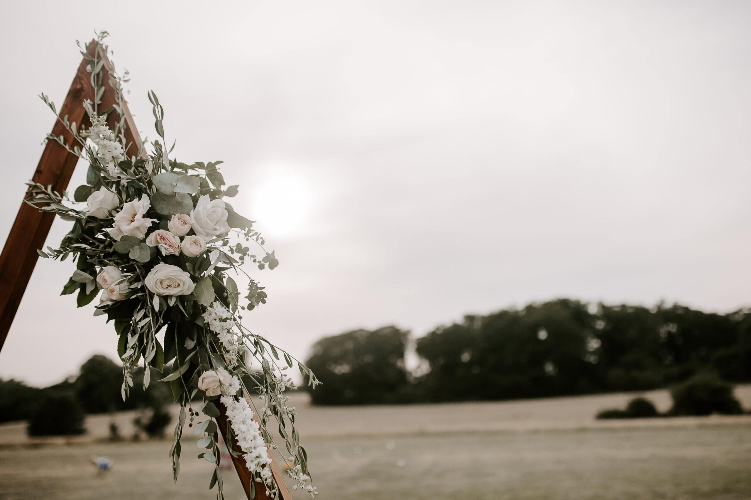 triangle arbour at suffolk tipi wedding