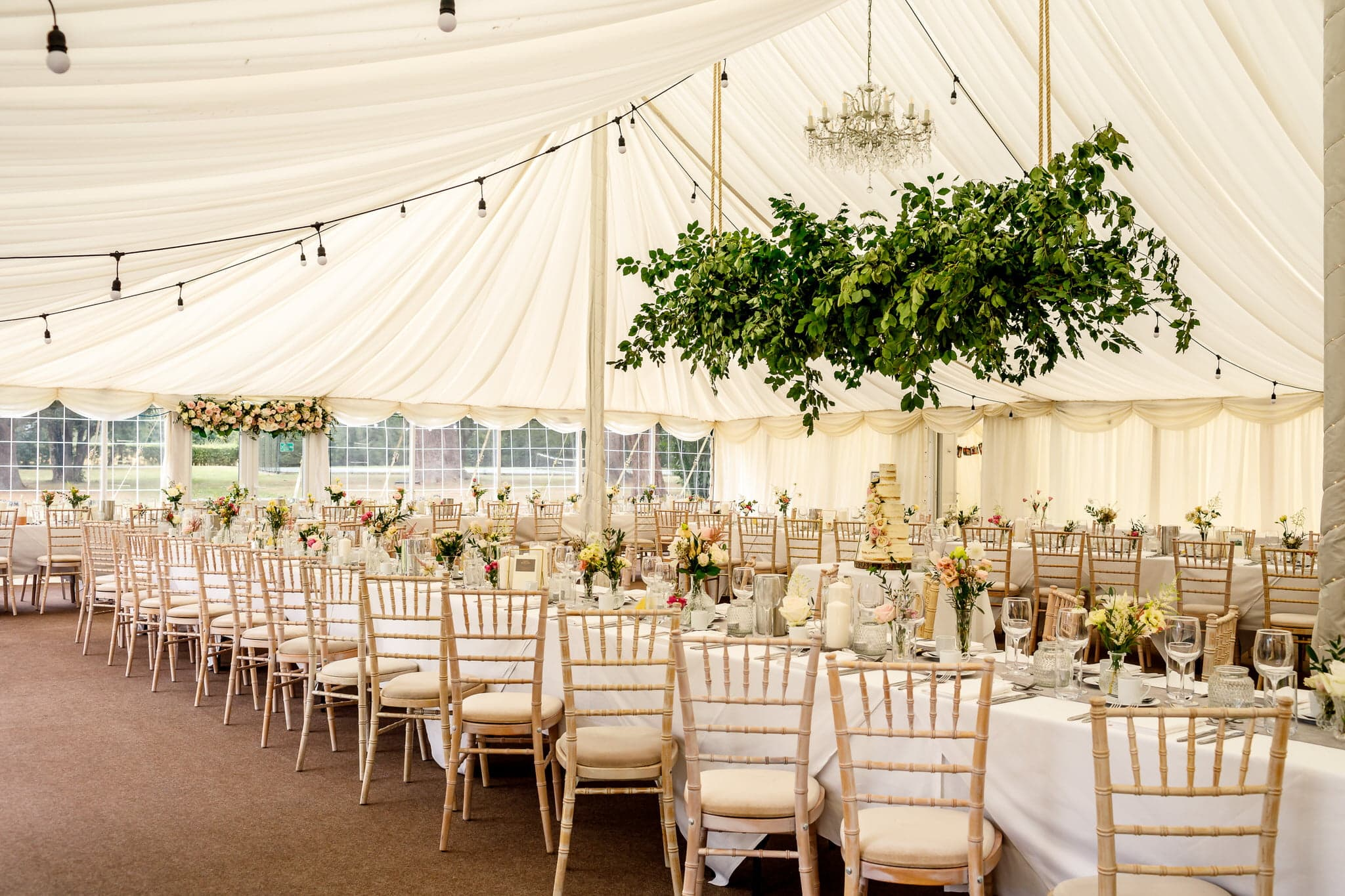 Barrington Hall marquee wedding