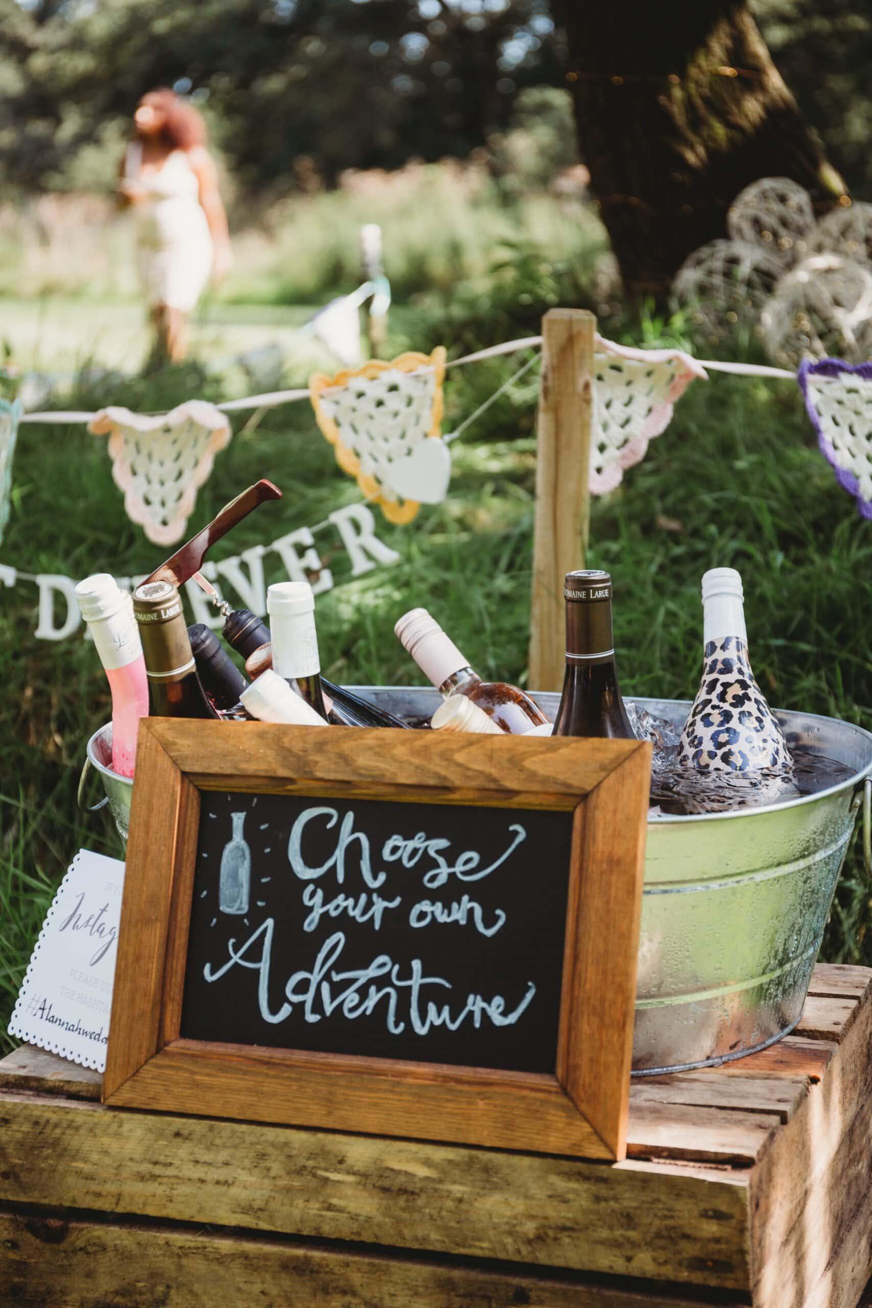wedding drink station idea