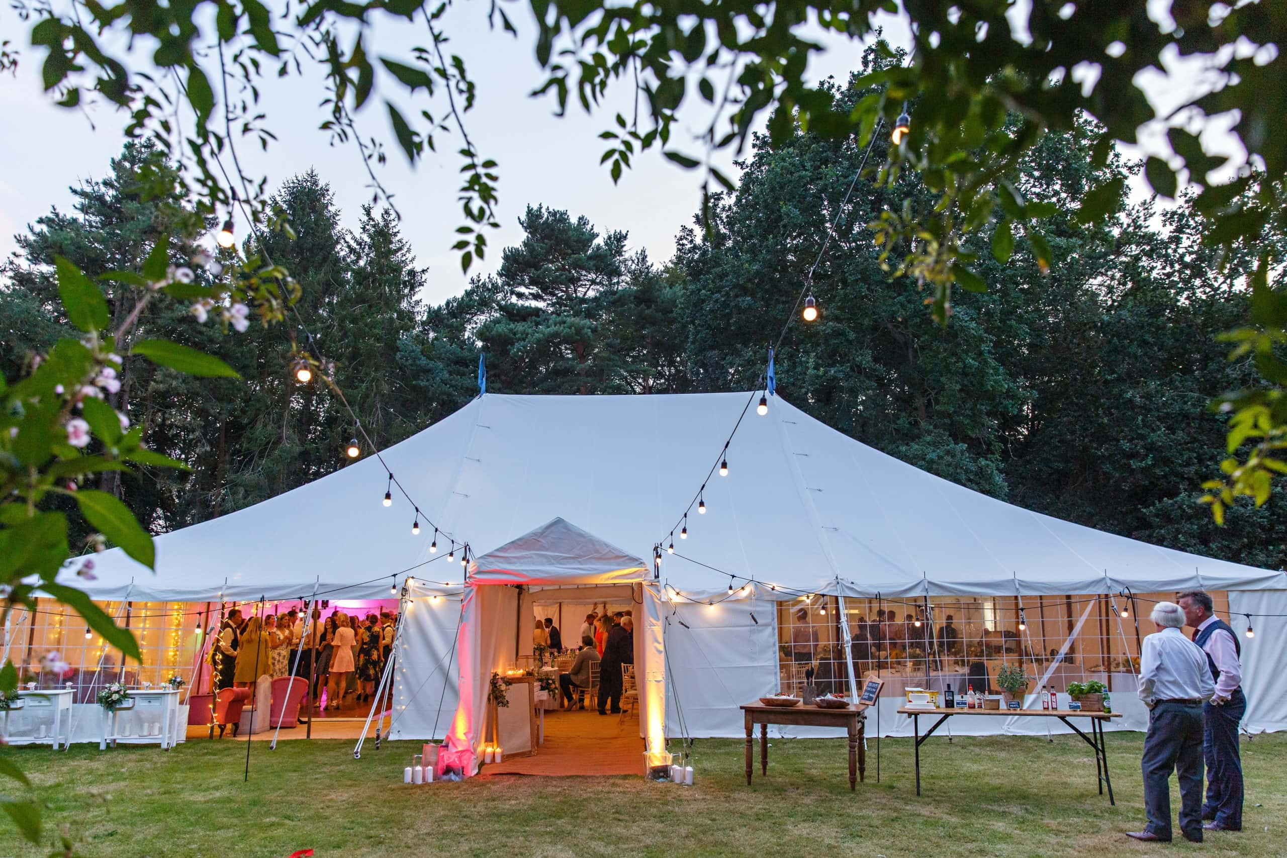 Marquee wedding Thurning Hall